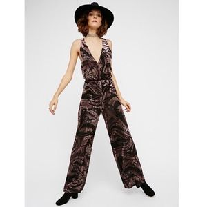 NEW Free People Piper Jumpsuit - Burnout Floral